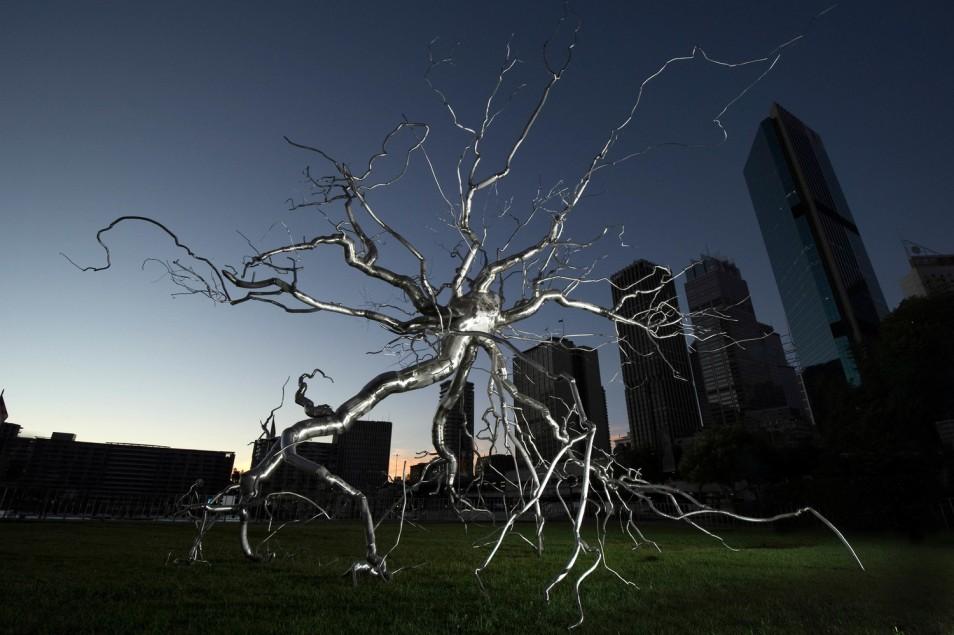 Sydney, MCA Museum art installation Neuron by Roxy Paine NSW, Australia.